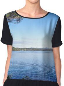 Wallaga Lake (panoramic) Chiffon Top