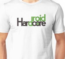 Hardcore Droid's logo in black for white and light shirts.  Unisex T-Shirt