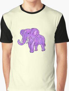 beautiful purple elephant Graphic T-Shirt