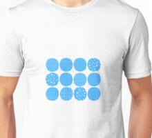 Sky blue circles Unisex T-Shirt