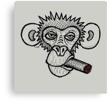 Monkey with cigar Canvas Print