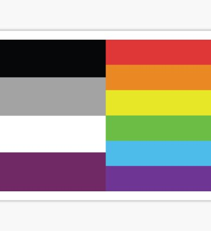 Homoromantic Asexual Flag Sticker