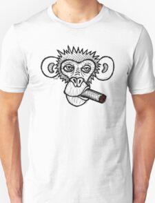 Monkey with cigar Unisex T-Shirt