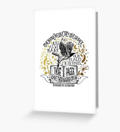 Nevernight - Books Love Us Back Greeting Card