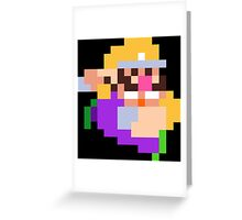 PixelStiff Wario Greeting Card