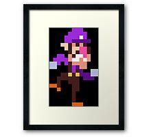 PixelStiff Waluigi Framed Print
