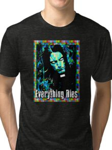 EVERYTHING DIES - STAINED GLASS Tri-blend T-Shirt