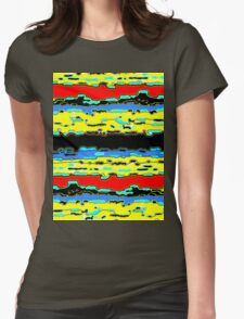 Bush Ants Abstract Digital Var 16 solid background Womens Fitted T-Shirt