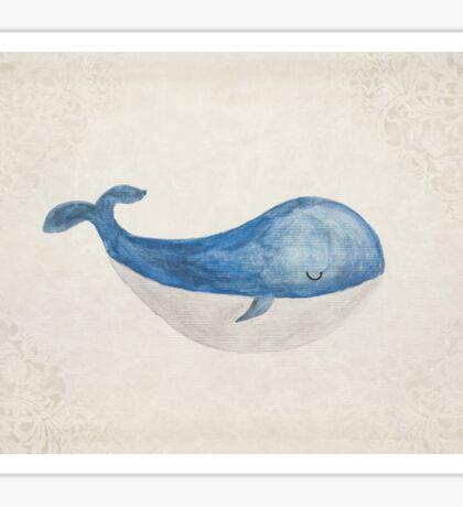 Sleepy Whale Sticker