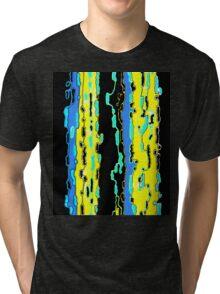 Bush Ants Abstract Digital Var 14 solid background Tri-blend T-Shirt