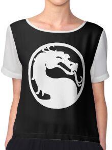 White Dragon Chiffon Top