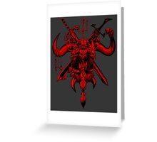 Death Sign Red Greeting Card