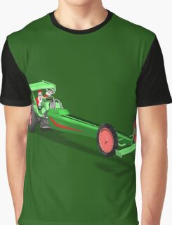 Santa Claus In Dragster Graphic T-Shirt