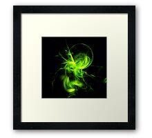 Green Flame Fractal Framed Print