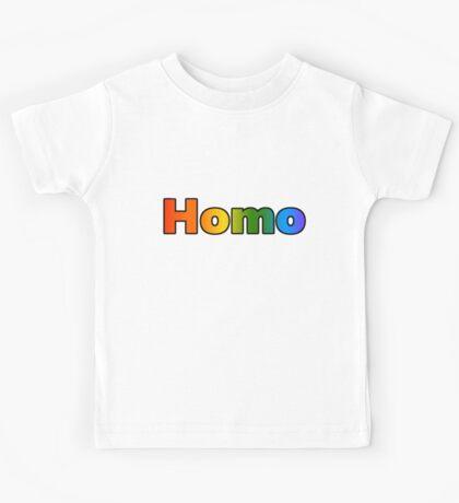 Homo (Text) Kids Tee