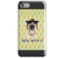 Deal with it pup iPhone Case/Skin