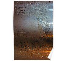 Condensation on Metal Texture Poster