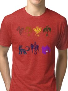 7 Chakra Dragons Tri-blend T-Shirt