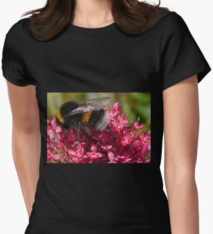 Mr Bumble at work...... Dorset UK Womens Fitted T-Shirt