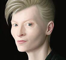 Tilda Swinton & David Bowie Hybrid by Alcoz