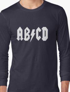 AB/CD White Long Sleeve T-Shirt