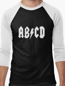 AB/CD White Men's Baseball ¾ T-Shirt