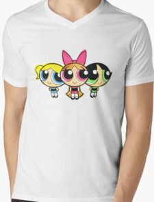 PowerPuff Mens V-Neck T-Shirt