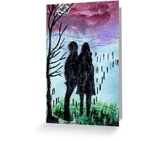 Waiting In The Mist Greeting Card