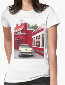 A Ford Fairlane At A Fancy Dive Womens Fitted T-Shirt