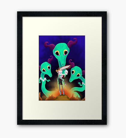 Fight with dragons Framed Print