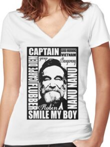 Robin williams tribute  Women's Fitted V-Neck T-Shirt