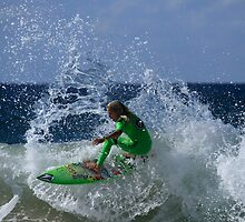 Power Surfing At Duranbah by Noel Elliot