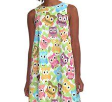 Little Owls  A-Line Dress