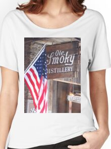 Old Glory At Ole Smoky Distillery Women's Relaxed Fit T-Shirt
