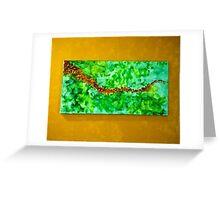 Autumnal Wave Greeting Card