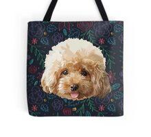 Flower Poodle Dog Tote Bag