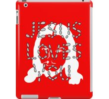 Jesus Loves You face iPad Case/Skin