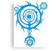 Blue Magic Circle Canvas Print