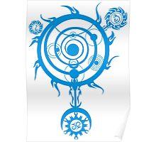 Blue Magic Circle Poster