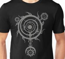 Grey Magic Circle Unisex T-Shirt