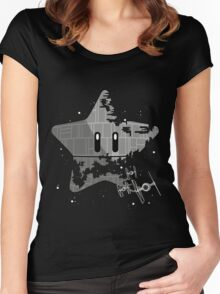 Super Death Star Women's Fitted Scoop T-Shirt