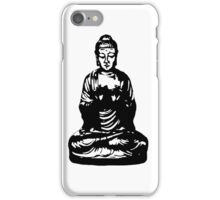 Buddha Figur black iPhone Case/Skin