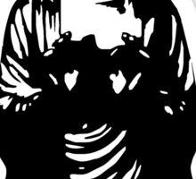 Buddha Figur black Sticker