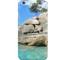 Cala Macarella bay with crystal clear azure water, Island of Menorca, Balearic Islands, Spain iPhone Case/Skin