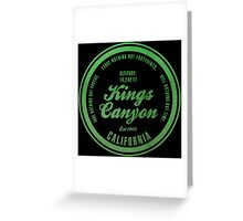 Kings Canyon National Park, California Greeting Card
