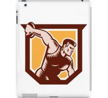 Discus Thrower Shield Woodcut iPad Case/Skin