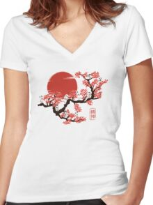 Kodamas Women's Fitted V-Neck T-Shirt