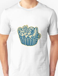 Crop Harvest Basket Retro Unisex T-Shirt