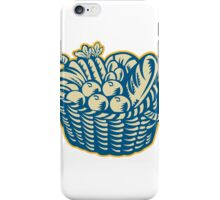Crop Harvest Basket Retro iPhone Case/Skin