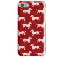 Christmas Dachshunds iPhone Case/Skin